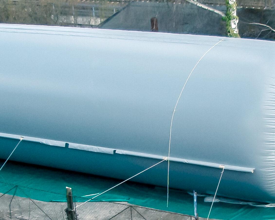 Biogas-Schlauchspeicher / tubular Biogas storage