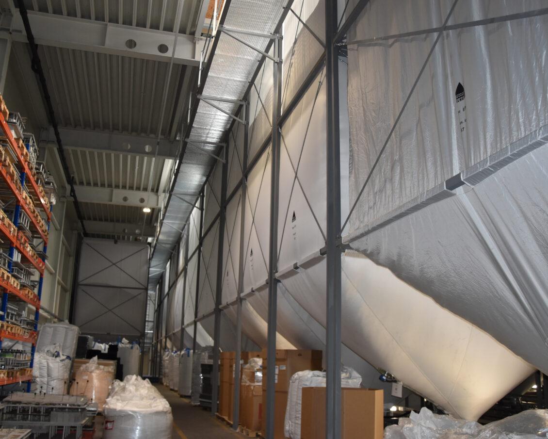 Dämmstoffsilos / silos for insulation material